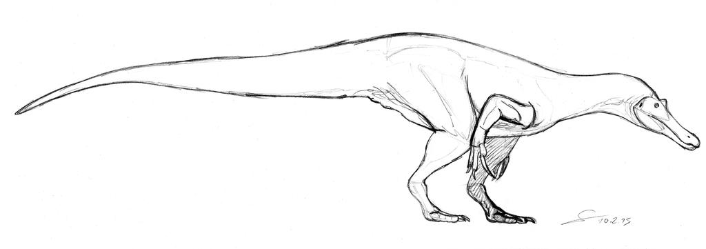 Baryonyx 2015 premilinary sketch by shinreddear on deviantart for Baryonyx coloring pages
