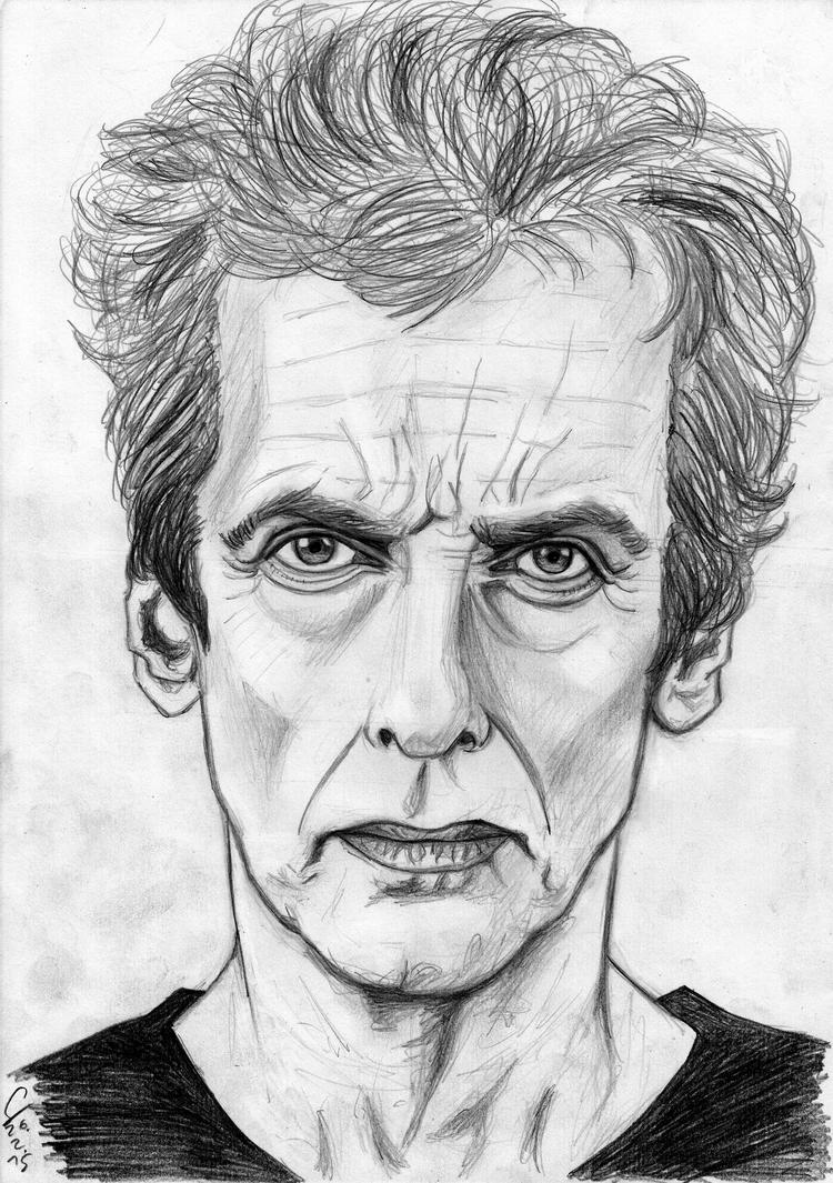 Peter Capaldi portrait sketch (updated) by ShinRedDear