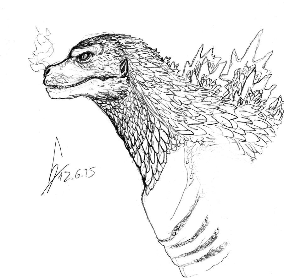 Godzilla profile 2015 by ShinRedDear