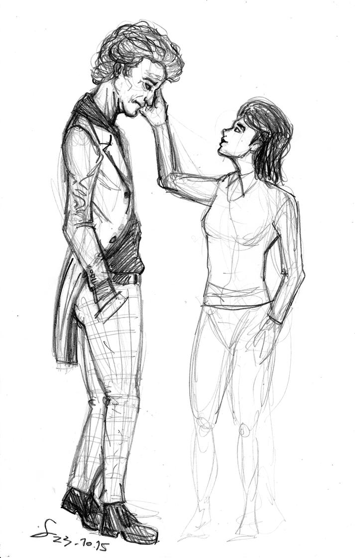 Doctor and Clara unfinished sketch by ShinRedDear
