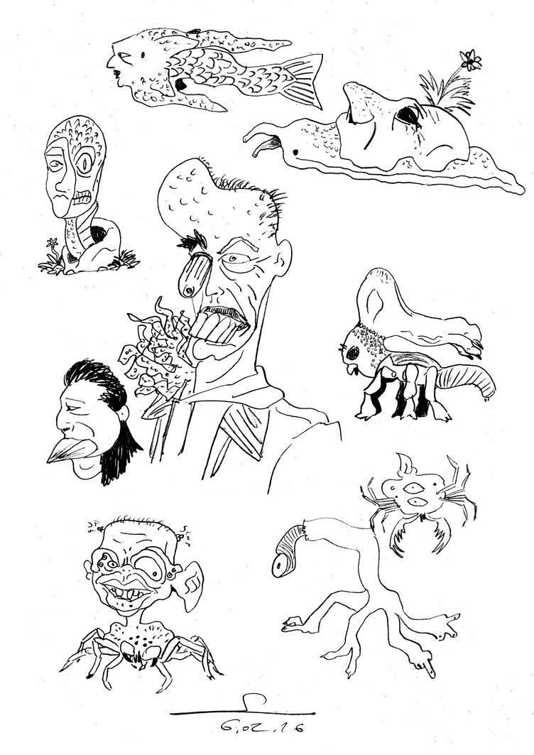 Monster Doodles february by ShinRedDear