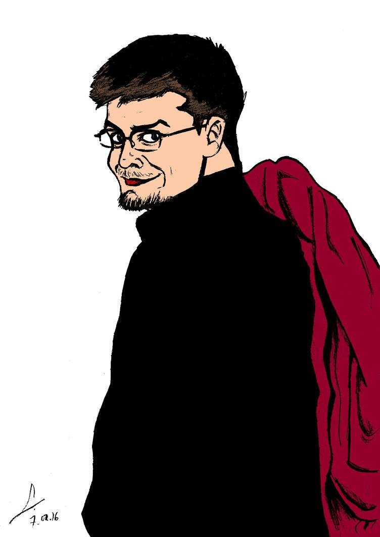Autoportrait with red jacket by ShinRedDear