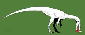Dinovember 2016 Day 3 Coelophysis portrait V1