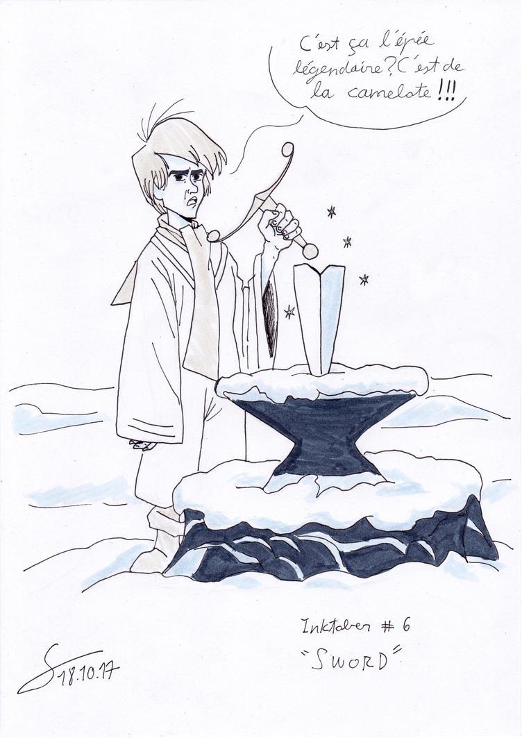 Inktober 17: Sword by ShinRedDear