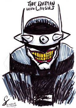 The Batman who laughs inked sketch