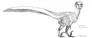 Velociraptor full sketch 2017