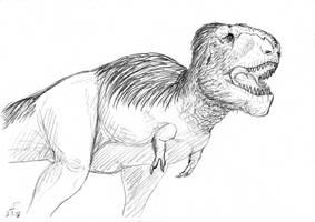 Tristan Tyrannosaurus rex sketch by ShinRedDear