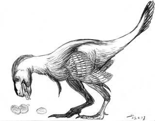 Incisivosaurus eating Cycad seeds by ShinRedDear