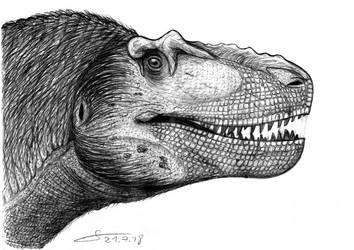 2018 Daspletosaurus sketch portrait by ShinRedDear