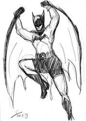 Batman Bob kane version sketch by ShinRedDear
