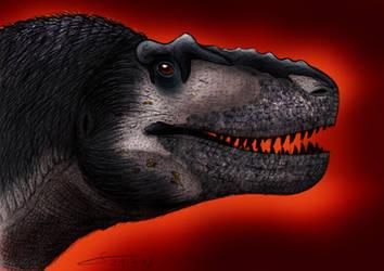 2018 Daspletosaurus sketch portrait colored by ShinRedDear