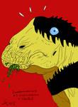 DrawDinovember2018 Day 3 Nigersaurus hunted