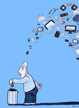 Press drawing: electronic trash