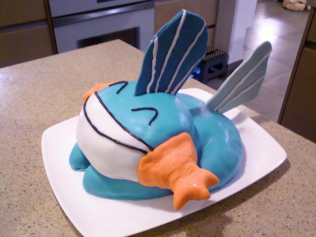 Mudkip Birthday Cake