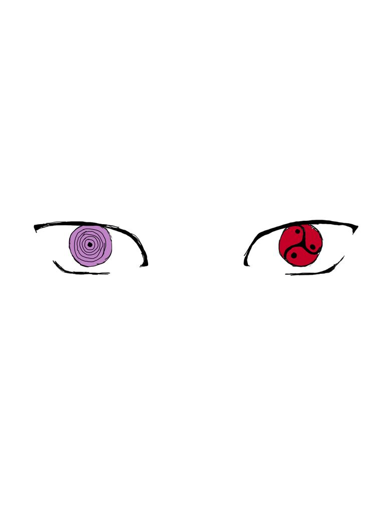 naruto rinnegan eye drawing