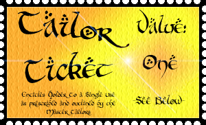 Misty Vale Golden Tailor Ticket - Value One by DRACODOPTABLES