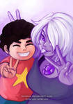 Amethyst and Steven