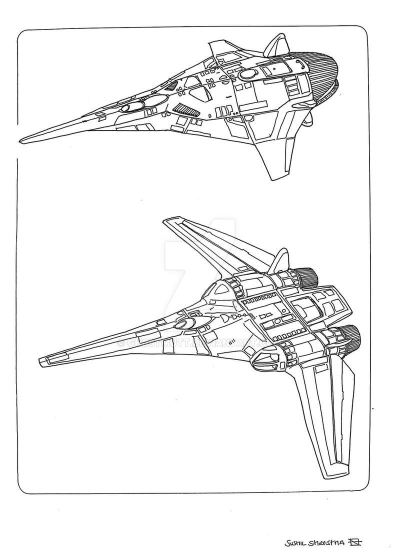 Spaceships fighter 4 by GH0STMUTT