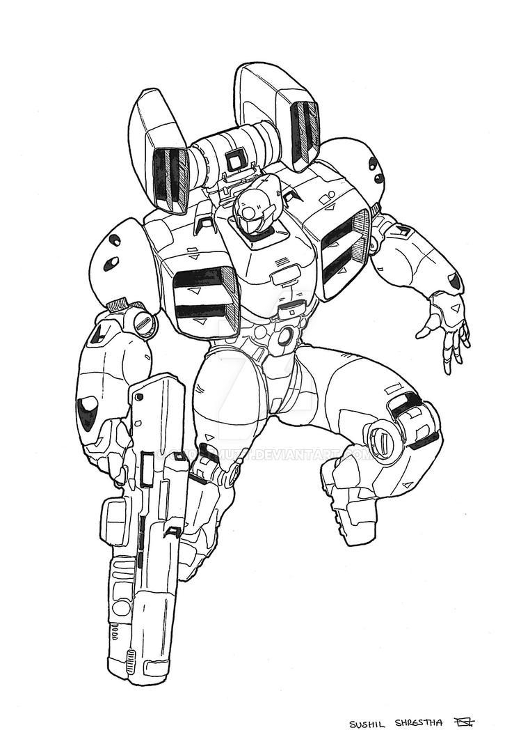 Robots 7 by GH0STMUTT