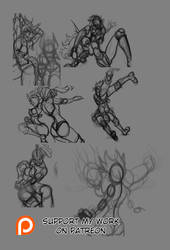Sketches for the month of February 2016 by cyberaix