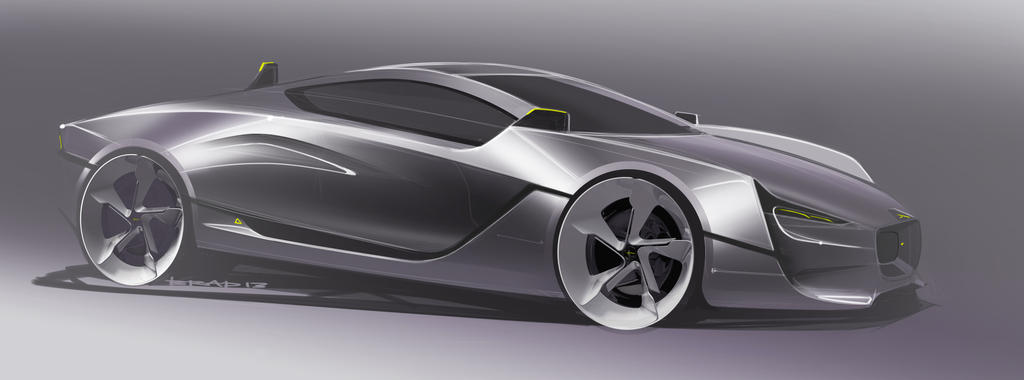 Jaguar CXR-S Final exterior render by bradders31