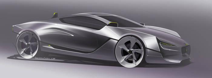 Jaguar CXR-S Final exterior render