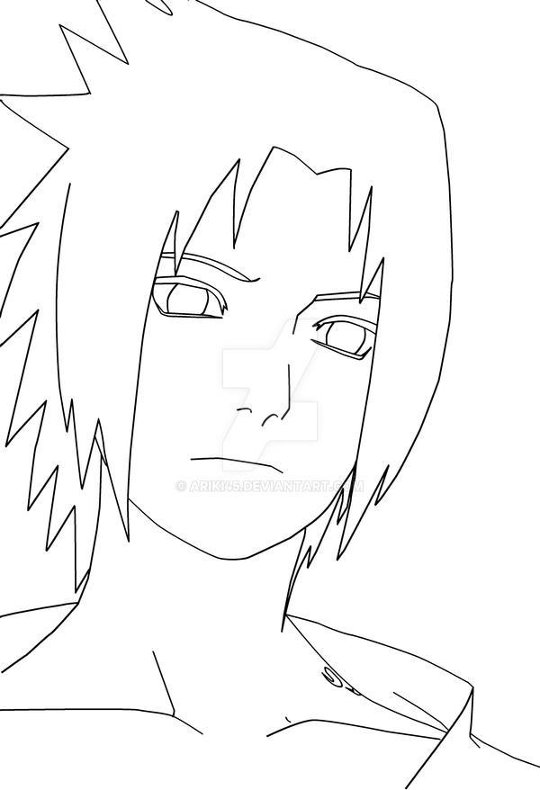 Sasuke Lineart : Sasuke lineart by ariki on deviantart