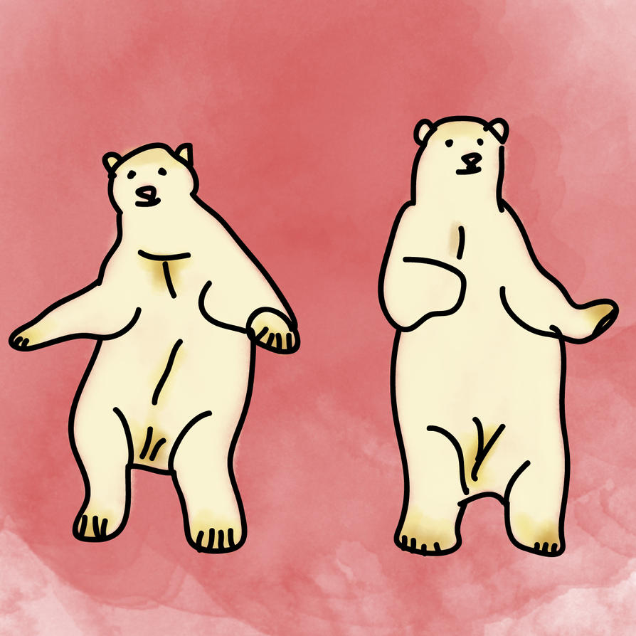 Dancing Polar Bear by mykalromero