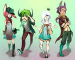 CE: Matching Outfits! by forgottenpantaloons
