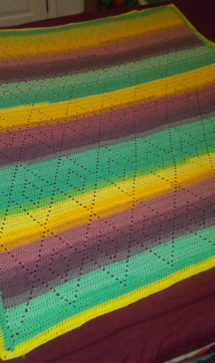 Diamond Baby Blanket by CherokeeCampFireGirl
