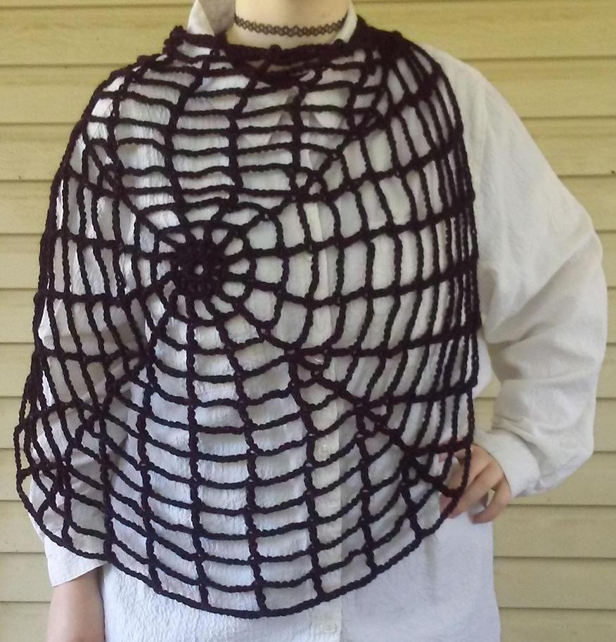 Spiderweb scarf by CherokeeCampFireGirl