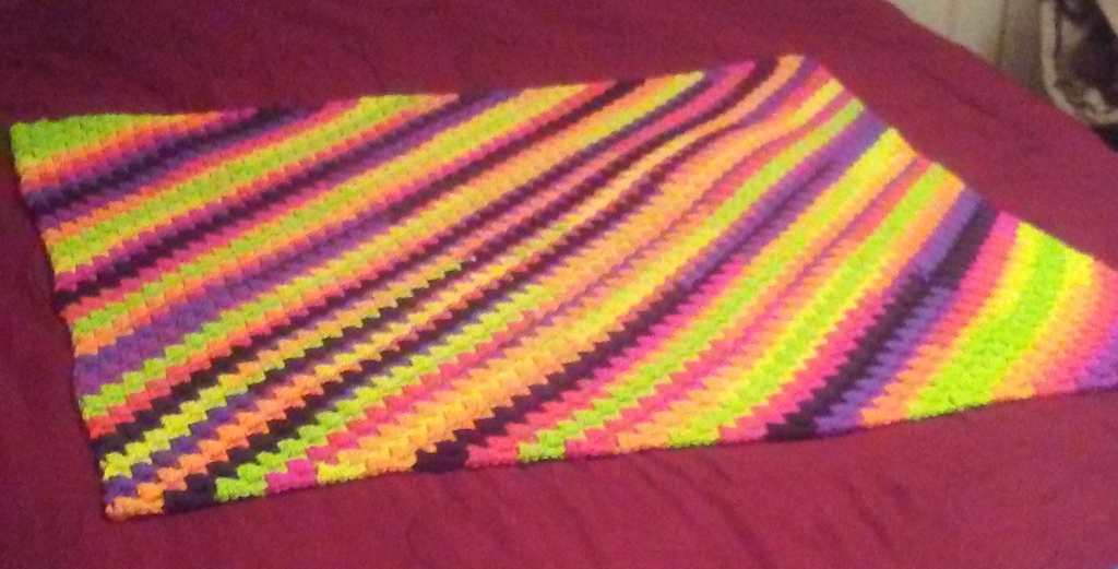 Afghan Bright Stripes by CherokeeCampFireGirl