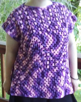 Purple granny square top