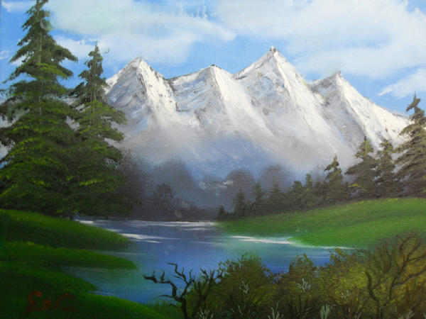 snowy mountain landscape paintings. snowy mountains oil painting by xcxexyxlxaxnx mountain landscape paintings