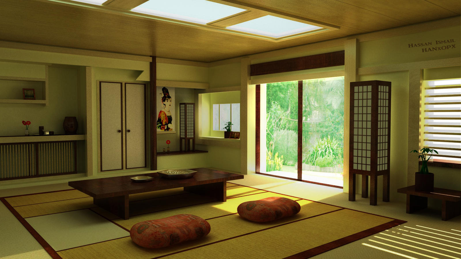 Japanese interior 01 by hanxopx on deviantart for Asian home design