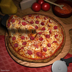 VRay Pizza