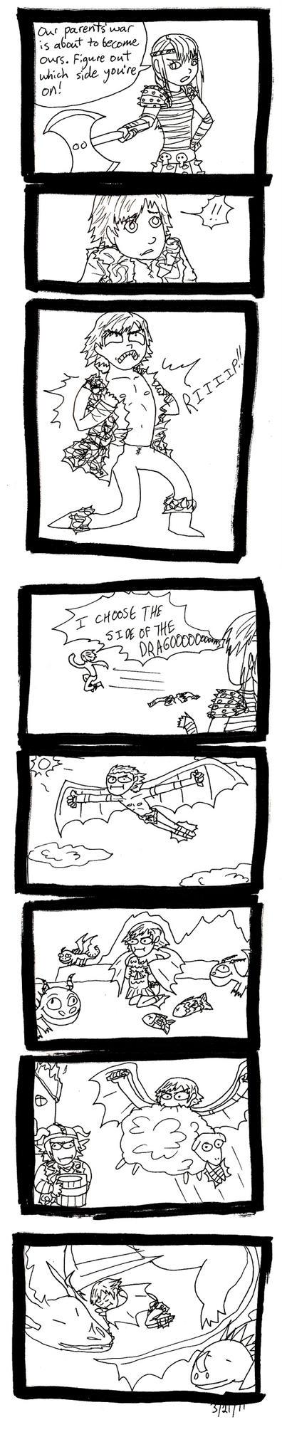 HTTYD: Dragon Side by FatHobbit