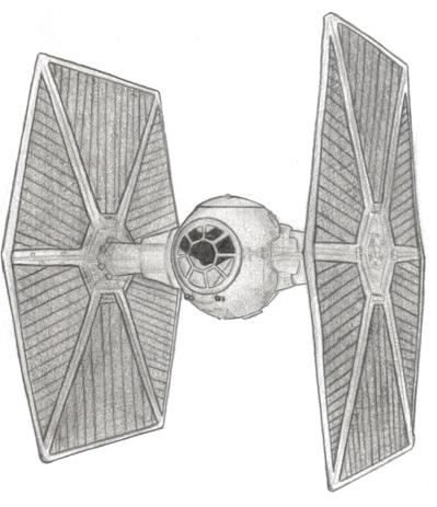 Imperial Tie Fighter Drawing TIE Fighter by MadameFirebird
