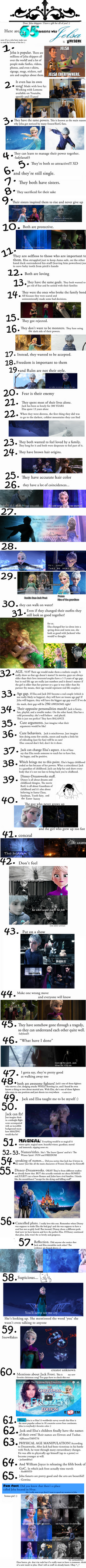 65 reasons why JELSA is AWESOME!!! by AngelUnicorn123