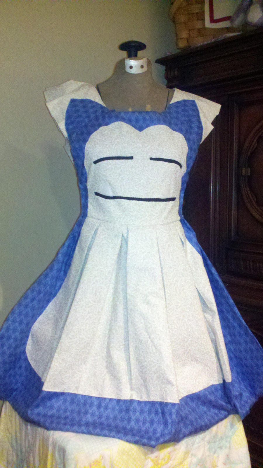 White apron ro - Snorlax Apron Pinafore Cosplay By Darlingarmy