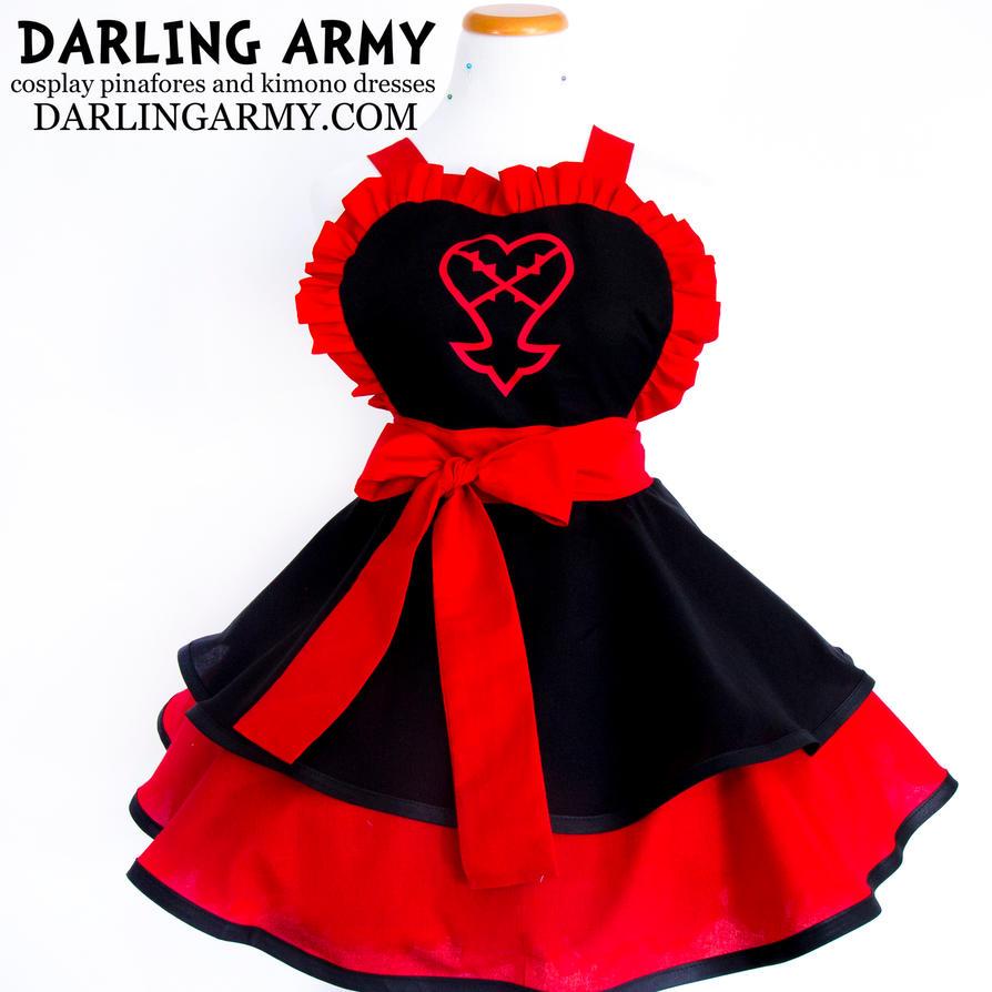 heartless kingdom hearts cosplay apron by darlingarmy on
