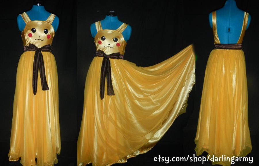 Pikachu Prom Dress Commission by DarlingArmy