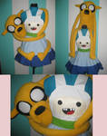 Jake the Dog Plushie with Finn Cosplay Pinafore