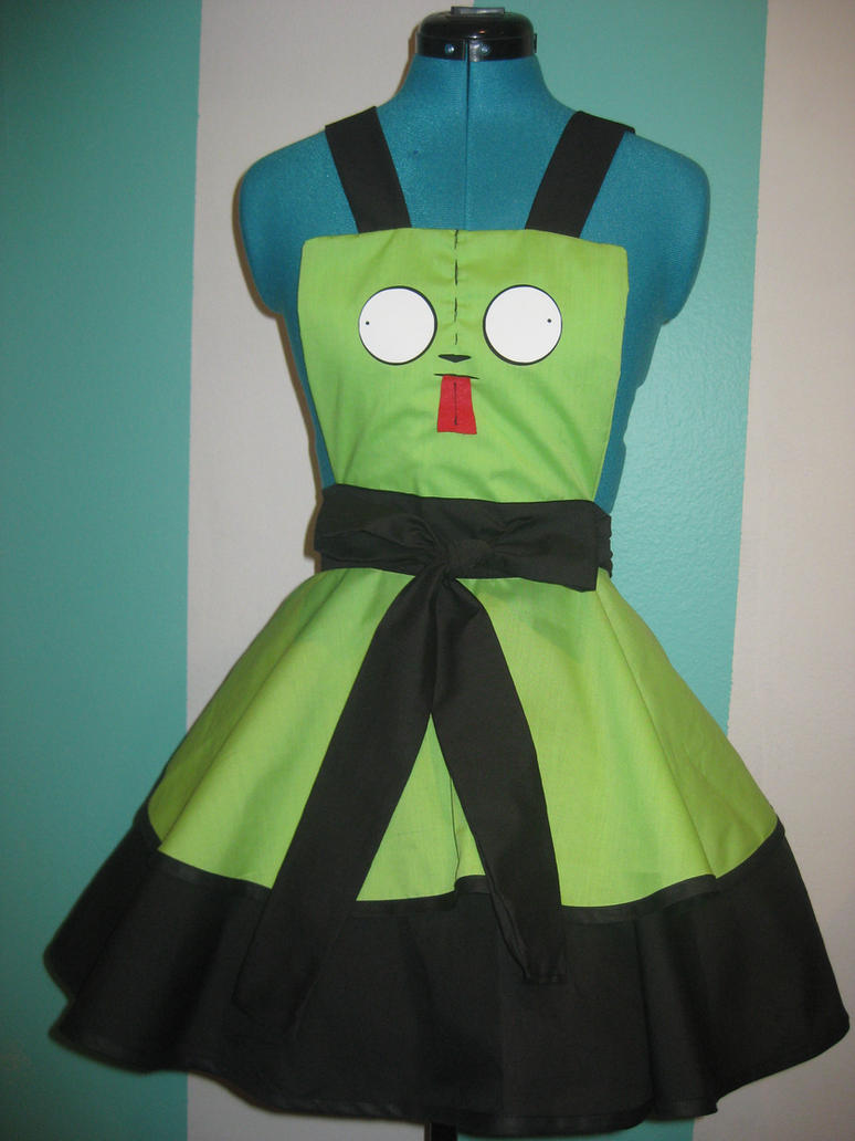 Gir - Invader Zim - Inspired Cosplay Pinafore by DarlingArmy