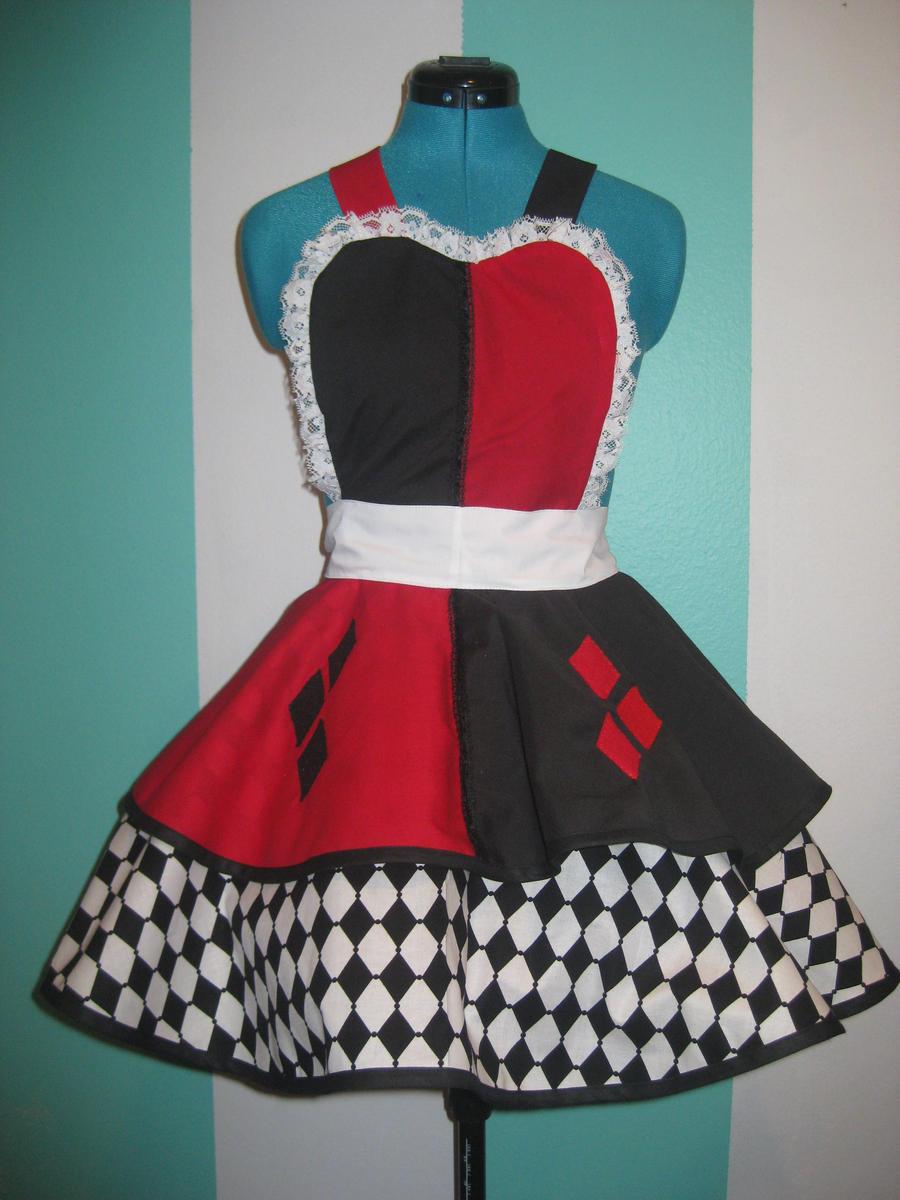 Harley Quinn Inspired Cosplay Pinafore by DarlingArmy