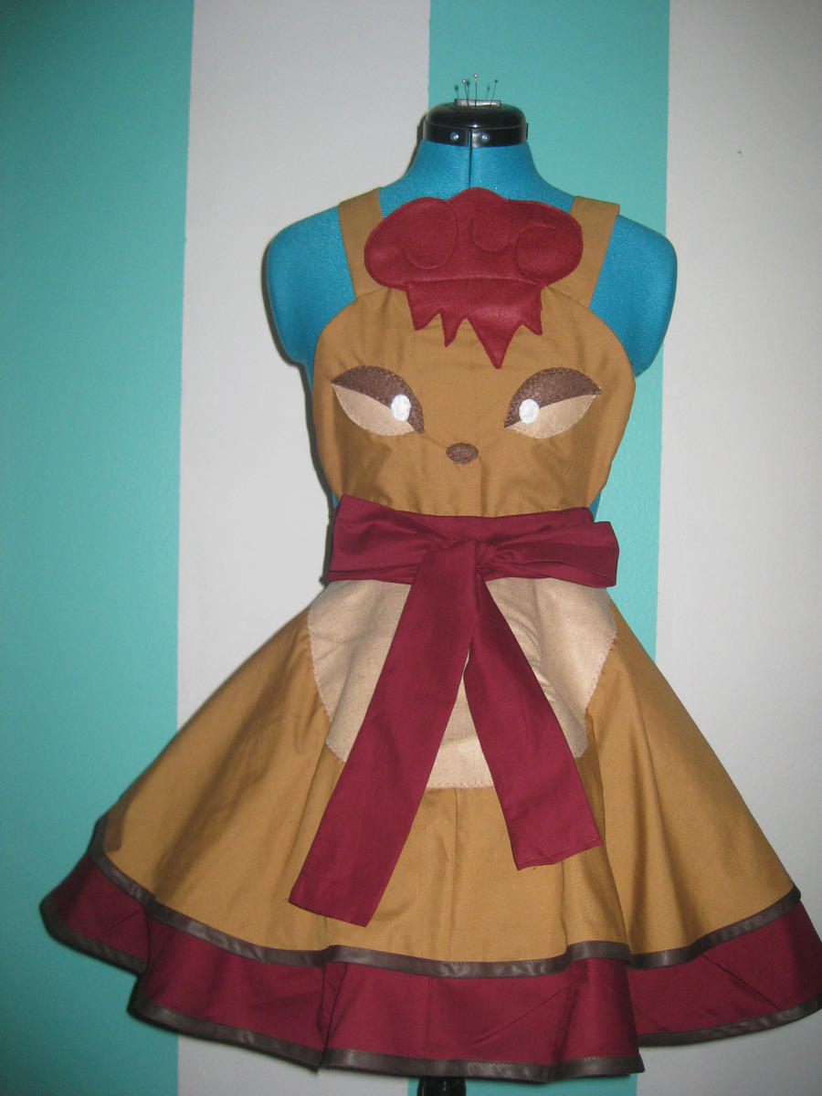 Vulpix Pokemon Gijinka Inspired Cosplay Pinafore by DarlingArmy