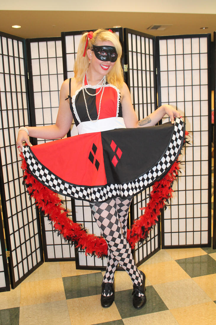 Nerdy Girlz - Harley Quinn Cosplay Pinafore by DarlingArmy