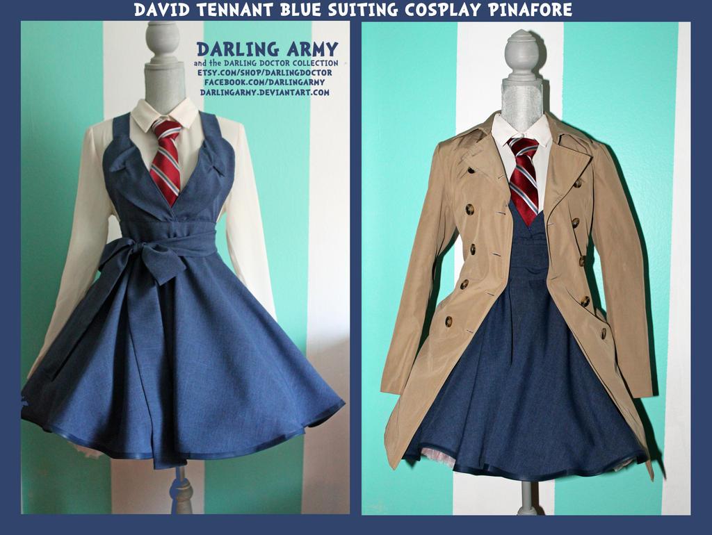 David Tennant Blue Suiting Cosplay Pinafore by DarlingArmy