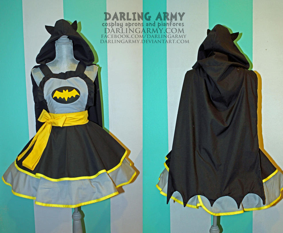 Batman Cosplay Pinafore Dress - Accessory by DarlingArmy