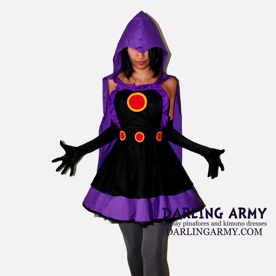 Raven Teen Titans Cosplay Pinafore by DarlingArmy ... & Raven Teen Titans Cosplay Pinafore by DarlingArmy on DeviantArt